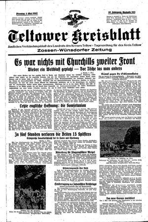 Teltower Kreisblatt vom 05.05.1942