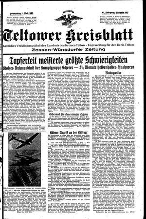 Teltower Kreisblatt vom 07.05.1942