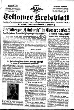Teltower Kreisblatt on May 8, 1942