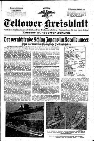 Teltower Kreisblatt vom 09.05.1942