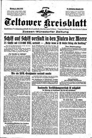 Teltower Kreisblatt vom 11.05.1942