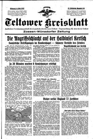 Teltower Kreisblatt on May 13, 1942