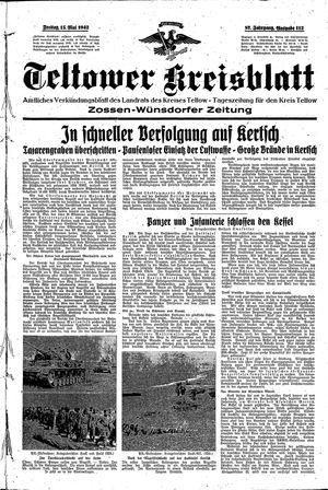 Teltower Kreisblatt vom 15.05.1942