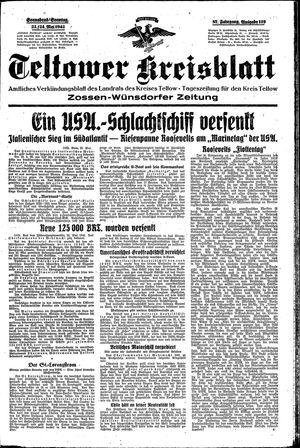 Teltower Kreisblatt vom 23.05.1942