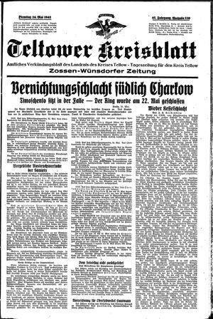 Teltower Kreisblatt vom 26.05.1942