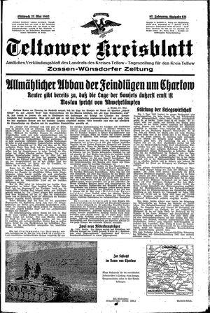 Teltower Kreisblatt vom 27.05.1942