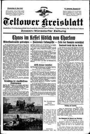 Teltower Kreisblatt on May 28, 1942