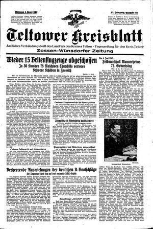 Teltower Kreisblatt vom 03.06.1942