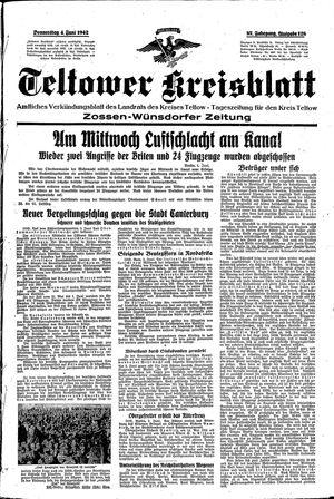 Teltower Kreisblatt vom 04.06.1942