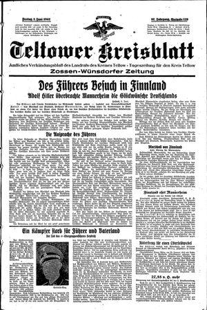 Teltower Kreisblatt vom 05.06.1942