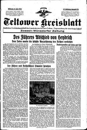 Teltower Kreisblatt vom 10.06.1942