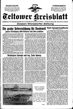 Teltower Kreisblatt vom 11.06.1942