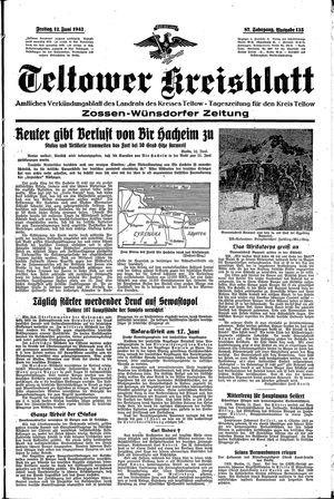 Teltower Kreisblatt vom 12.06.1942
