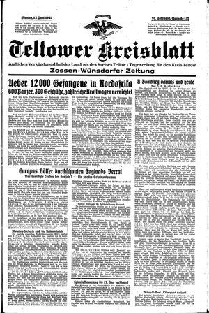 Teltower Kreisblatt on Jun 15, 1942