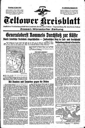 Teltower Kreisblatt vom 16.06.1942