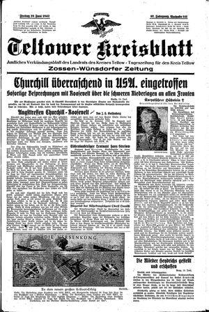 Teltower Kreisblatt vom 19.06.1942