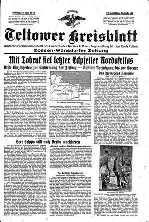 Teltower Kreisblatt vom 22.06.1942