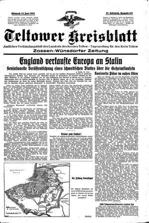 Teltower Kreisblatt vom 24.06.1942
