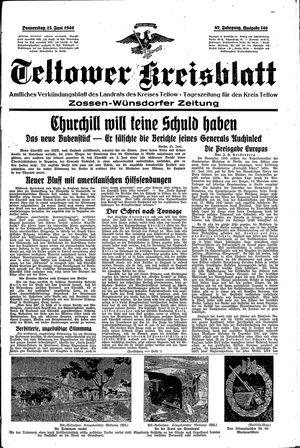 Teltower Kreisblatt vom 25.06.1942