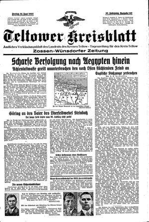 Teltower Kreisblatt vom 26.06.1942