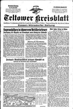 Teltower Kreisblatt vom 27.06.1942