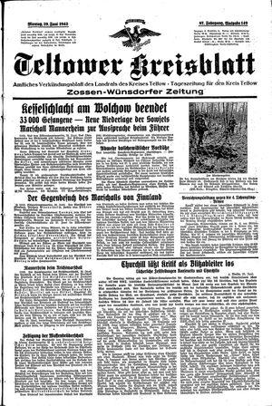 Teltower Kreisblatt on Jun 29, 1942