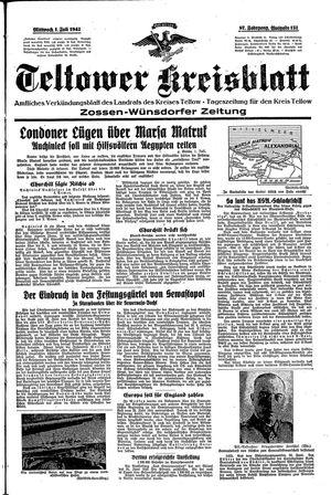 Teltower Kreisblatt vom 01.07.1942