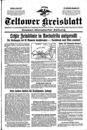 Teltower Kreisblatt vom 03.07.1942