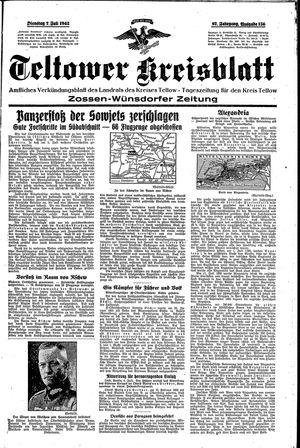Teltower Kreisblatt vom 07.07.1942