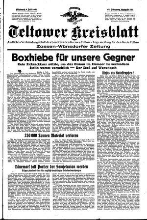 Teltower Kreisblatt vom 08.07.1942