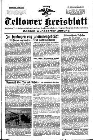 Teltower Kreisblatt vom 09.07.1942