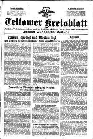 Teltower Kreisblatt vom 10.07.1942