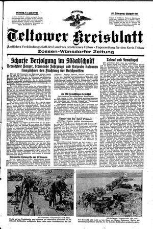 Teltower Kreisblatt vom 13.07.1942