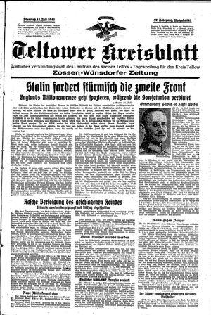 Teltower Kreisblatt vom 14.07.1942