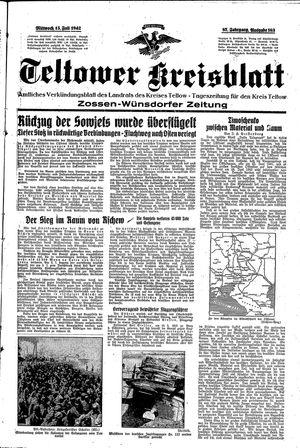 Teltower Kreisblatt vom 15.07.1942