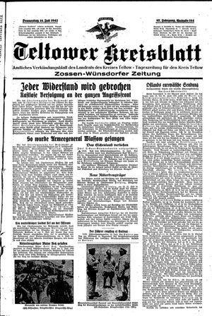 Teltower Kreisblatt vom 16.07.1942