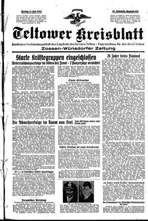 Teltower Kreisblatt vom 17.07.1942