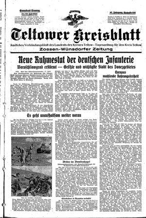 Teltower Kreisblatt vom 18.07.1942