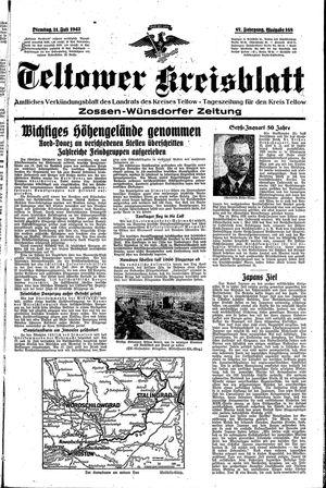 Teltower Kreisblatt vom 21.07.1942