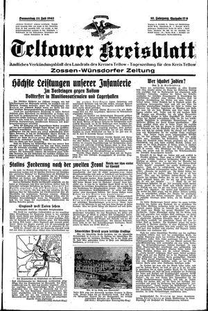 Teltower Kreisblatt vom 23.07.1942