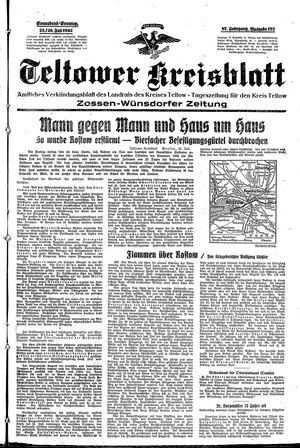 Teltower Kreisblatt vom 25.07.1942