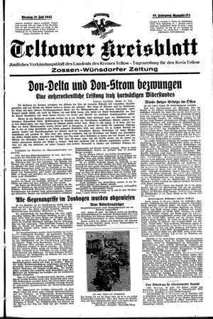 Teltower Kreisblatt vom 27.07.1942