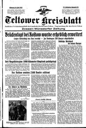 Teltower Kreisblatt vom 29.07.1942