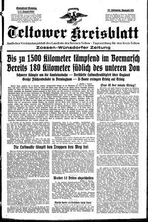 Teltower Kreisblatt vom 01.08.1942