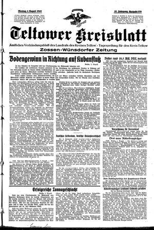 Teltower Kreisblatt vom 03.08.1942