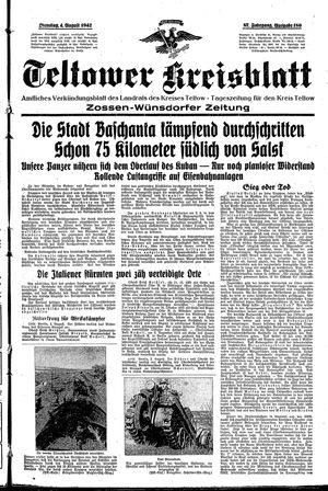 Teltower Kreisblatt vom 04.08.1942