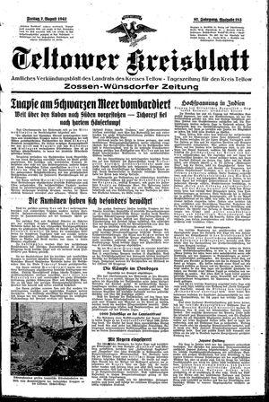 Teltower Kreisblatt vom 07.08.1942