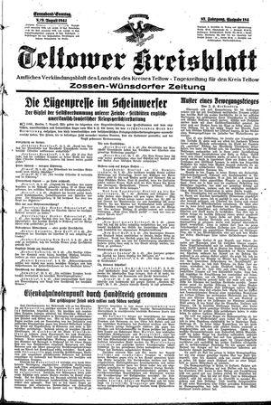 Teltower Kreisblatt vom 08.08.1942