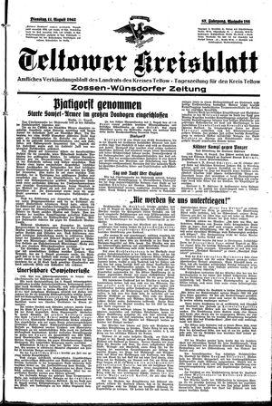 Teltower Kreisblatt vom 11.08.1942