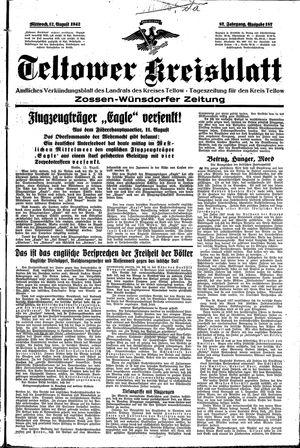 Teltower Kreisblatt vom 12.08.1942